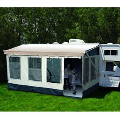 "Picture of Carefree Buena Vista Gray w/Dark Trim Enclosure For 16' 5"" Full Size Bag & Box Awnings 225000 00-0194"