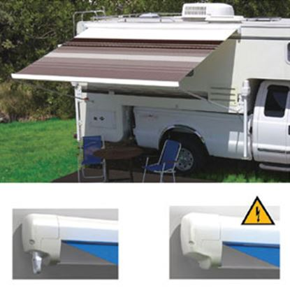 """Picture of Carefree Freedom Black/Gray Vinyl 9' 10""""L X 8'Ext Adj Pitch Manual Box Awning 351188D25 00-0959"""