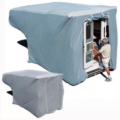 Picture of ADCO SFS AquaShed (R) Gray Fabric/Polypropylene Queen Cover For 8'-10' Truck Campers 12264 01-1159
