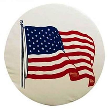 """Picture of ADCO  28"""" Size I Flag Spare Tire Cover 1786 01-1849"""