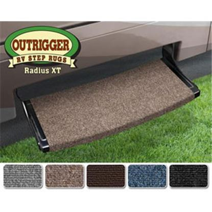 """Picture of Prest-o-Fit Outrigger (R) Castle Gray 22"""" Radius XT Entry Step Rug 20383 04-0301"""