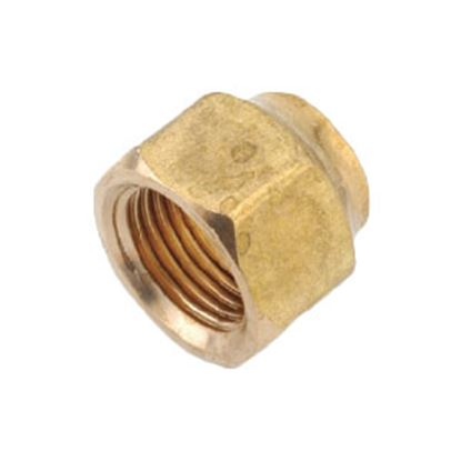 """Picture of Anderson Metal LF 7110 Series 1/4"""" MPT x 1/8"""" FPT Brass Fresh Water Straight Fitting 706110-0402 06-1313"""