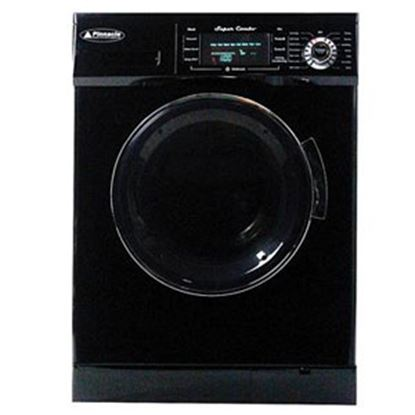"Picture of Pinnacle  110VAC 23-1/2""W Black 13LB Clothes Washer/Dryer Combo Unit 18-4400 B 07-0071"