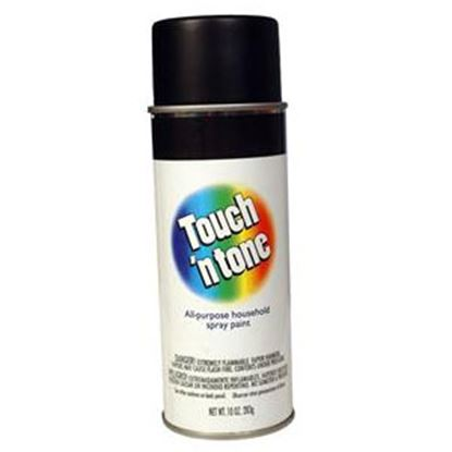Picture of DAP Touch N Tone 10Oz Flat Black Spray Can Paint 003-55275 13-0536