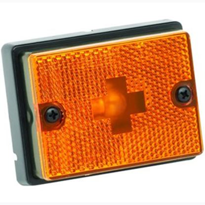 "Picture of Bargman  Amber 3-1/8""x2-3/8""x1"" Side Marker Light 203111 18-0356"