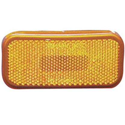 """Picture of Command  Amber 3-7/8""""L x 1-7/8""""W x 1-3/8""""H Clearance LED Side Marker Light 003-58L 18-1355"""