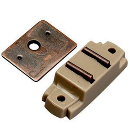 Picture of AP Products  Tan Surface Mount Magnetic Catch, w/ Flat Strike, 013-013 20-0498