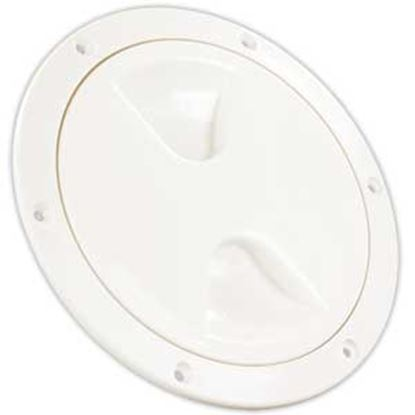 """Picture of JR Products  White 5-3/4""""RO Lockable Cord And Fresh Water Compartment Access Door 31025 22-0535"""