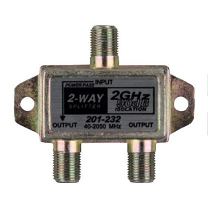 Picture of JR Products  2.4 GHz 2-Way TV Cable Splitter 47355 24-0367