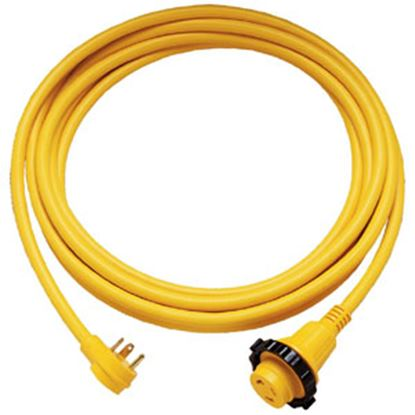 Picture of Marinco  25' L 30A Yellow Power Cord With Large Grip Swivel Handle 25SPPH.RV 55-6200