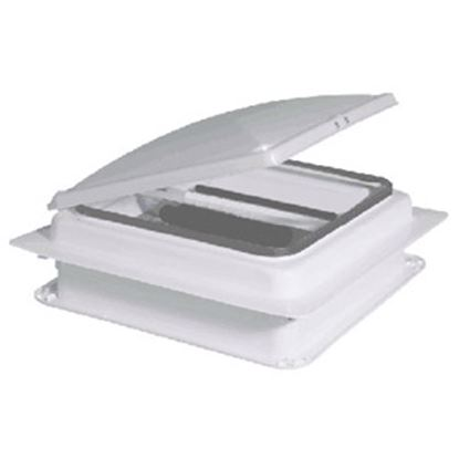 """Picture of Heng's  White 14""""x14"""" Metal Frame Roof Vent V971201-C1G1 94-3607"""